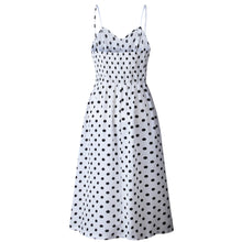 Load image into Gallery viewer, Polka Dot Print Button Up A Line Dress