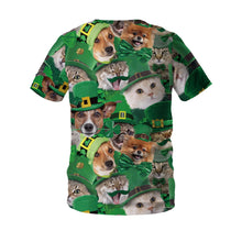 Load image into Gallery viewer, Saint Patrick's Day Pet Print T-shirt