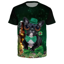 Load image into Gallery viewer, Dog Print Green T-shirt