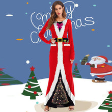Load image into Gallery viewer, Santa Claus Costume Christmas 3D Printed Ball Party Long Dresses