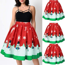 Load image into Gallery viewer, Christmas Print Ombre Skirt