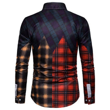 Load image into Gallery viewer, Men's Casual Business Multicolor Plaid Panel Casual Long Sleeve Shirt
