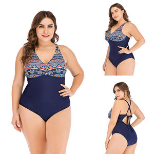 S-5XL One Piece  Print Swimwear