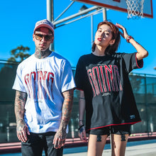 Load image into Gallery viewer, Loose Hip Hop Letter Print Couple Short Sleeve T-Shirt