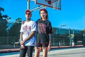 Loose Hip Hop Letter Print Couple Short Sleeve T-Shirt