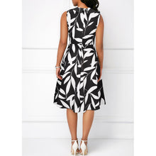 Load image into Gallery viewer, A-line  Leaf Print Vintage Dress