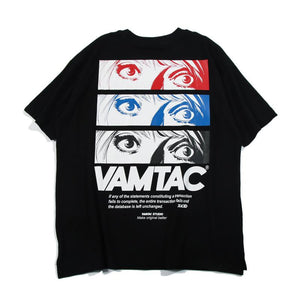 Eye Print Hip Hop Loose Couple T-Shirt