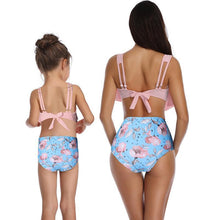 Load image into Gallery viewer, Parent-child Swimsuit High Waist Ruffle Bikini