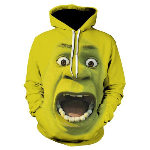 Shrek Hoodies Casual Hooded Sweatshirt