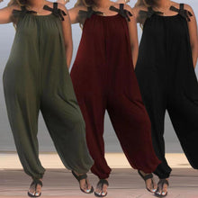 Load image into Gallery viewer, Baggy Harem Solid Color Loose Jumpsuits