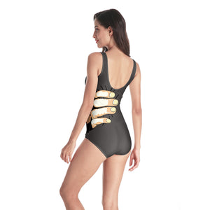 3D Finger Printed Beach Swimwear Bathing Suit One Piece Swimsuit