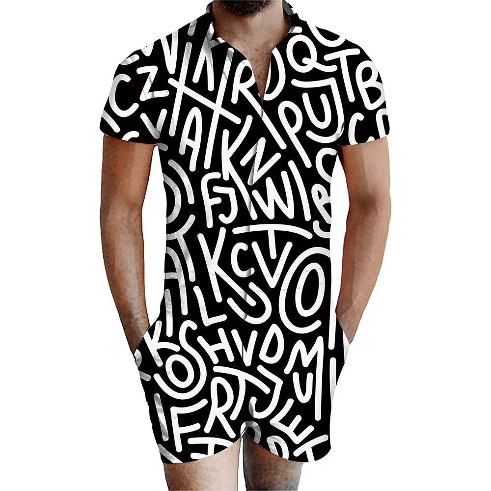 Men's 3D Printed Romper
