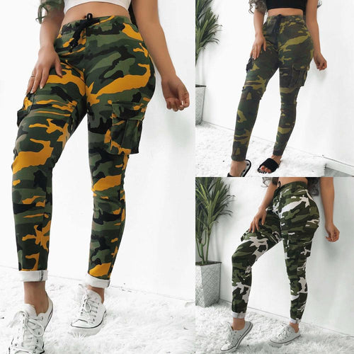 Sexy Slim Camouflage Printed Casual Camo Pants
