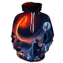 Load image into Gallery viewer, Thin 3D Black Hole Print Hoodie