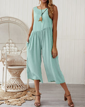 Load image into Gallery viewer, Solid Color Loose Casual Tank Top Jumpsuit