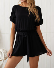 Load image into Gallery viewer, Casual Solid Color Romper Shorts