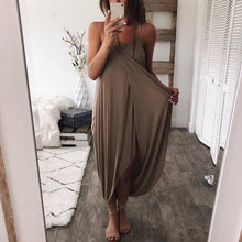 Load image into Gallery viewer, Solid Color Loose Irregular Dress
