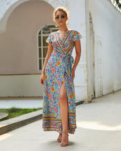 Load image into Gallery viewer, Casual Hot Holiday Print Sexy Maxi Dress