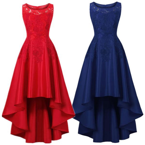 Slim Lace Long Skirt Bridesmaid Light Dress Party Mini Dress