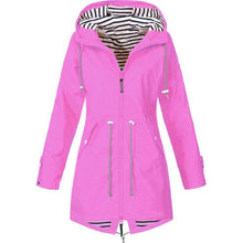 Load image into Gallery viewer, Women Windbreaker Transition Jacket Long Rain Outdoor Jacket with Hood