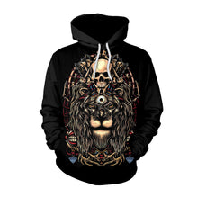 Load image into Gallery viewer, Halloween Lion Skull Print  Hoodie Halloween Costumes