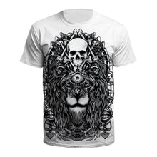 Load image into Gallery viewer, 3D Lion Print Short Sleeve Halloween T-shirt