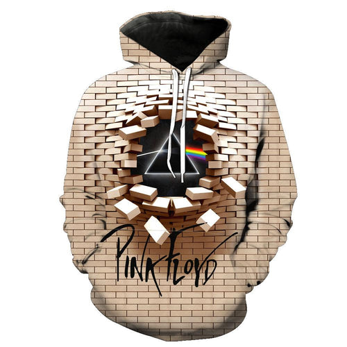 Big and Tall 3D The Dark Side Of The Moon The Wall Pink Floyd Sweatshirt Hoodie Jacket Coat