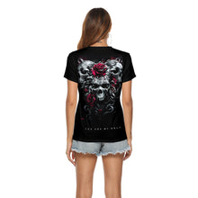 Load image into Gallery viewer, Halloween Skull 3d Print Short Sleeve T-shirt