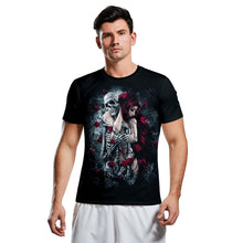 Load image into Gallery viewer, Halloween 3d Skull Print Short Sleeve T-shirt