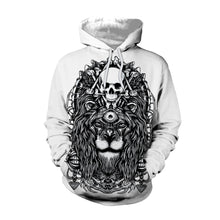 Load image into Gallery viewer, Halloween 3D Skull Lion Print Pullover Sweater Hoodie