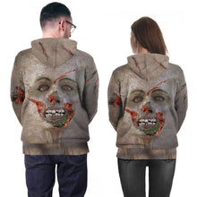 Load image into Gallery viewer, Halloween Realistic Zombie 3D Print Crew Neck Sweater Hoodie