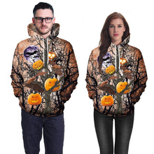 Load image into Gallery viewer, Halloween Pumpkin Digital Print Hoodie Hoodie
