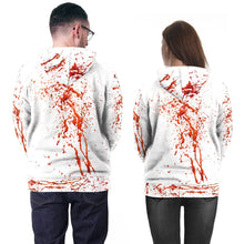 Load image into Gallery viewer, Horror 3D Blood Splashing Printed Hooded Couple Sweatshirt Hoodie