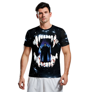 3d Horror Print Short Sleeve Halloween T-shirt