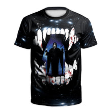 Load image into Gallery viewer, 3d Horror Print Short Sleeve Halloween T-shirt