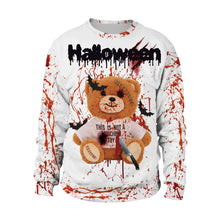 Load image into Gallery viewer, Horror 3D Blood Splashing Printed Sweatshirt Halloween Party Costume