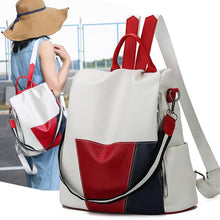 Load image into Gallery viewer, Waterproof Color BlockTravel Backpack Shoulder Bag For Women Girl