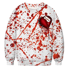 Load image into Gallery viewer, Halloween Blood Splash Digital Print Sweatshirts Plus Size Shirt