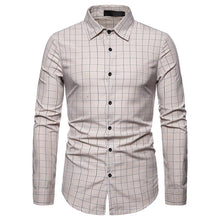 Load image into Gallery viewer, Men's Fashion Casual Business Multi Plaid Casual Long Sleeve Shirt