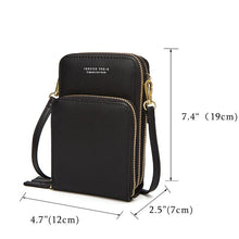 Load image into Gallery viewer, Women PU leather Clutch Bag Card Bag Phone Bag Crossbody Bag Mini Messenger Shoulder Bag Wallet with Credit Card Slots