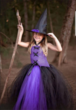 Load image into Gallery viewer, Girls Halloween Children's Clothing Witch Princess Dress Costume Cosplay Witch Tutu Kids Dress