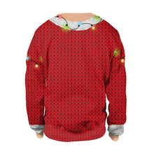 Load image into Gallery viewer, Xmas Cat & Light Print Christmas Long Sleeve Sweatshirt