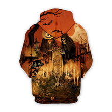 Load image into Gallery viewer, Halloween Printed Casual Hoodie