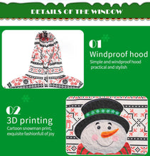 Load image into Gallery viewer, Christmas Print Round Collar Kids Sweatshirt and Pants