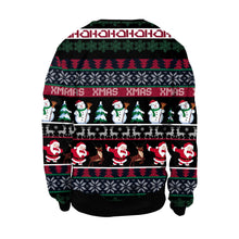Load image into Gallery viewer, Xmas Snowman Print Ugly Christmas Long Sleeve Sweatshirt