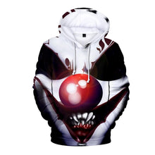 Load image into Gallery viewer, Clown Print Casual Hoodie