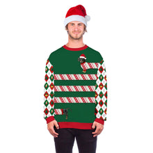 Load image into Gallery viewer, Xmas Fun Dog Print Ugly Christmas Long Sleeve Sweatshirt