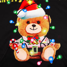 Load image into Gallery viewer, Xmas Teddy Bear Print Christmas Long Sleeve Hoodie