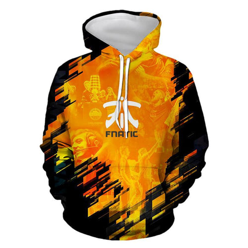 3D FNATIC Team Hoodie Casual Hooded Sweatshirt Jacket Coat