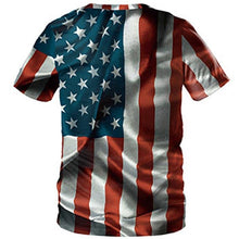 Load image into Gallery viewer, 3D Flag Cat Printed Short Sleeve T-shirt